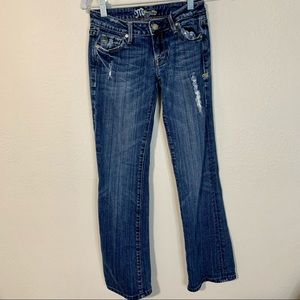 Miss Me Cowgirl Bootcut Jeans Dark Wash Distressed